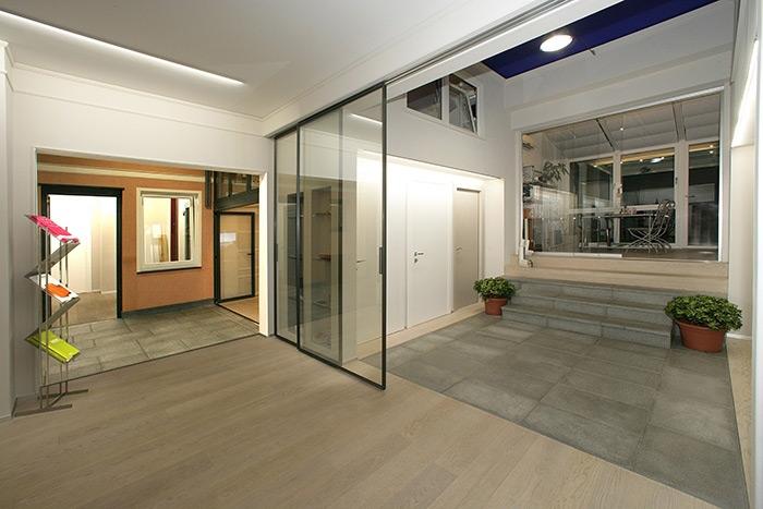 Interni e veranda ufficio